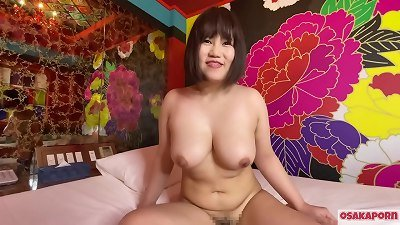 chinese cute lady with enormous boobs milks with fuck-a-thon toys and gets orgasm. She enjoys blowjob with large jugs and furry cunny groan loudly. plumper round  Osakaporn