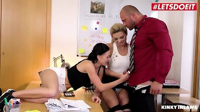 LETSDOEIT - Muscle stepfather pulverizes His naughty daughters At The Office (Nicole enjoy & Bella Scaris)