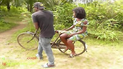The Only boy man Who Own Bicycle In The Village banged All The Village girls And People Wives In The thicket