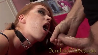 Naughy ass-fuck play with youthfull redhead tart