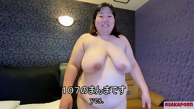 super fatty japanese lady is bellowing with lovemaking fucktoy and bouncing huge tits. plumper  chinese roped on the bed can't move. OSAKAPORN