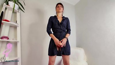 stunning polish domme Put on strap-on and teaches How Use rod - JOI