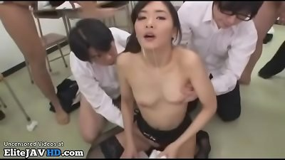 japanese instructor in stocking likes face cum shots