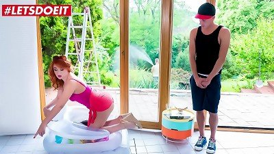 LETSDOEIT - #Nick Ross  #Eva Berger - teasing Russian mom mom red-hot intercourse By The Pool With Her shy Stepson