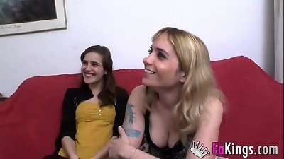 Ainara the teen introduces us her slut of an aunt and together they fuck a muscle guy