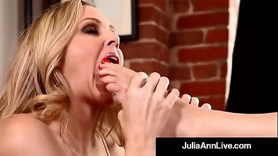 best cougar Julia Ann & Kimberly Kane worship Their Feet!